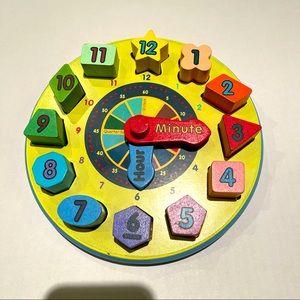 Shape sorting clock for kids